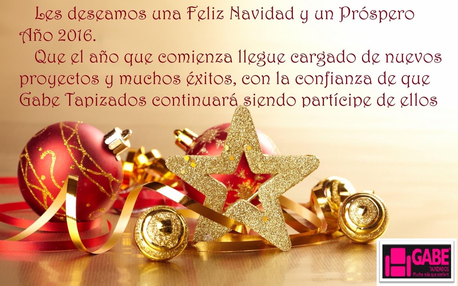 Felices Fiestas y Próspero año 2016 Gabe Tapizados