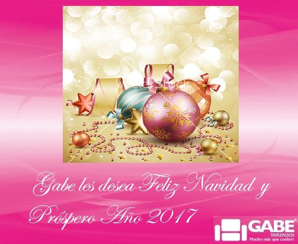 Gabe Tapizados les desea Felices Fiestas